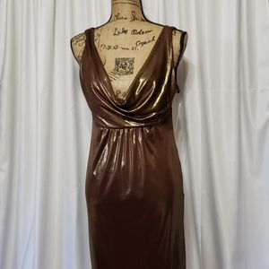 AGB Shimmery Scoop Neck Sleeveless Dress